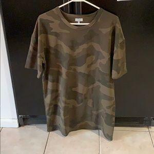 New XS camo T-shirt dress